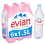 Bottled water in Europe, case or bottle
