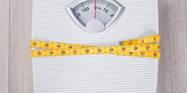 Weight Loss scale and measuring tape